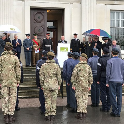 Haileybury cadets Commonwealth Day County Hall 2