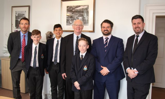 Visit to Halliford School by PCC for Surrey
