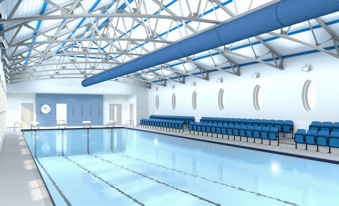 Harrogate Ladies' College Swimming Pool - Artist's Impression