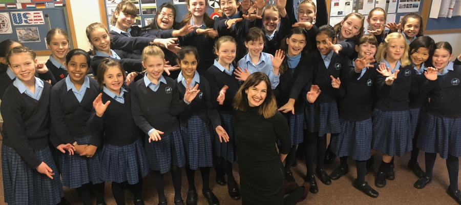 Chamber Choir are pictured with Mrs Evetts