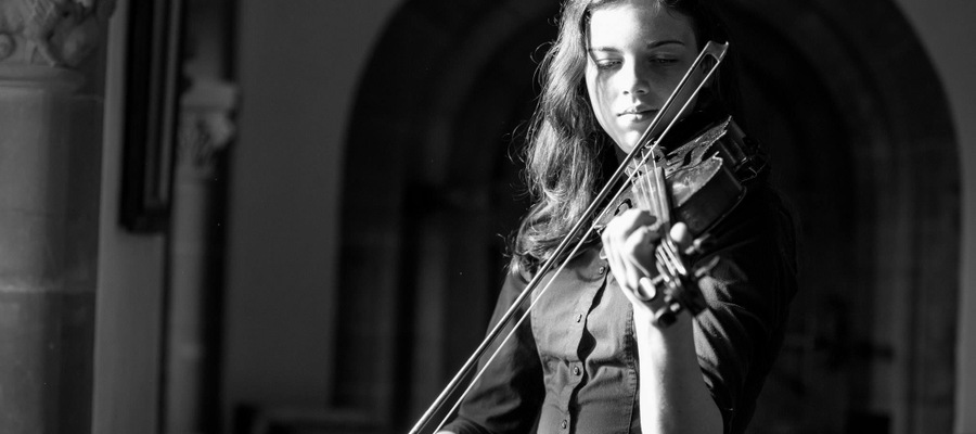 Livi van Warmelo of Hereford Cathedral School plays violin recital at Hoarwithy Italian Church