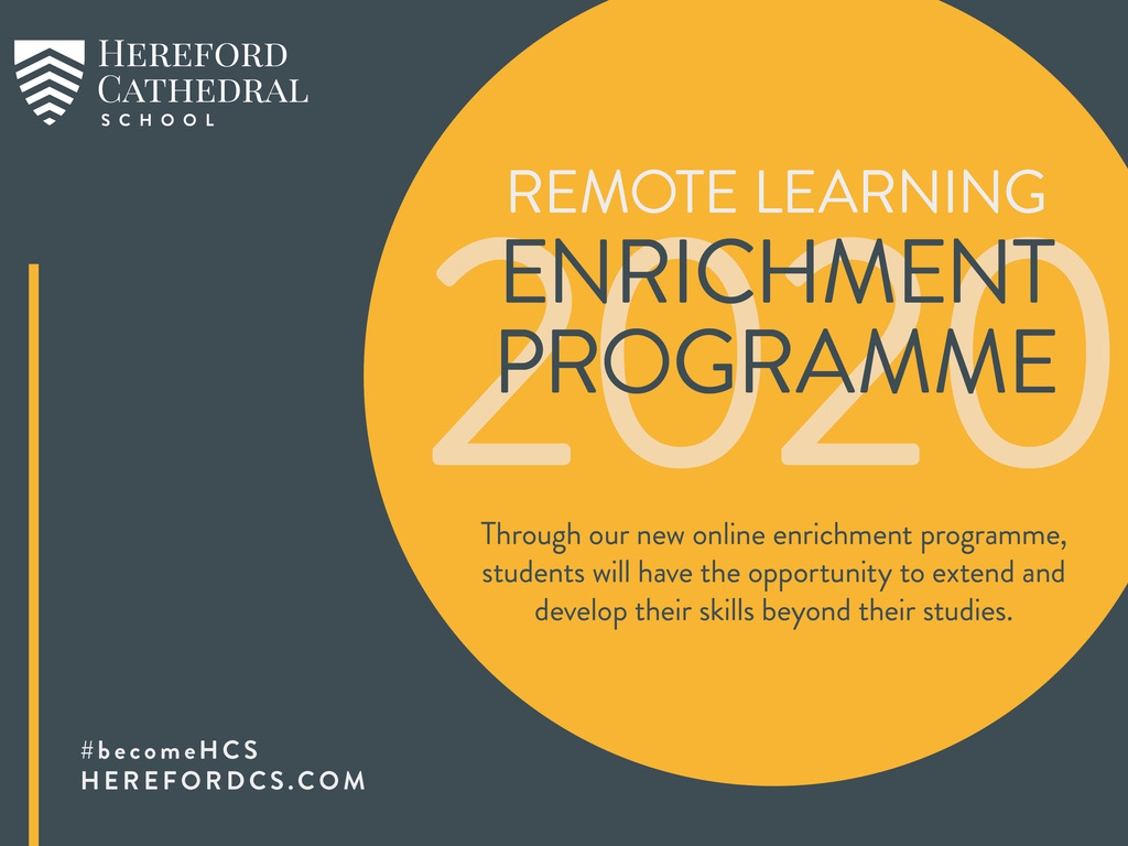 Hereford Cathedral School Enrichment Programme cover