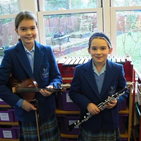 Elena Tomey and Lucy Palfery Highfield Prep