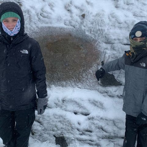 Tilda and Theo in -10 temperatures during their Ben Nevis climb copy