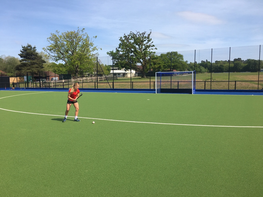 Molly Fairbairn christening Highfield and Brookham Schools brand-new Astro