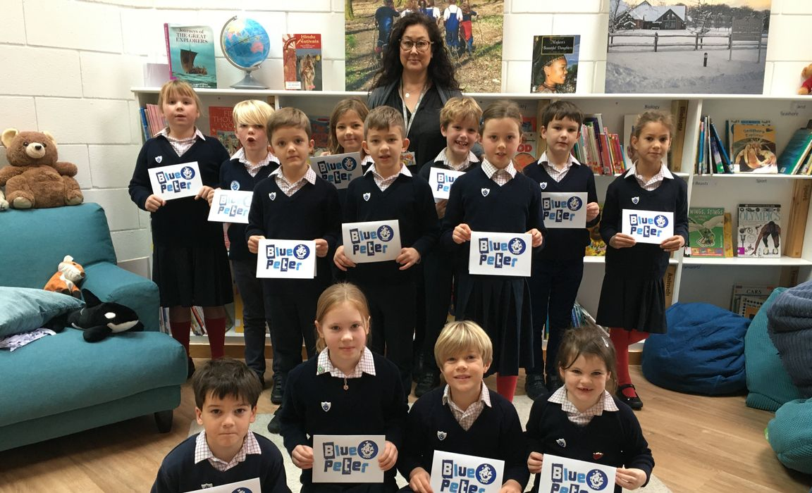 Children who are now in Year 3 awarded Blue Peter badges