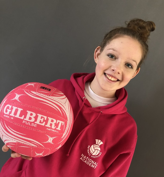 India Duffy from Kilgraston School selected to train with Scotland's National Netball Development Academy