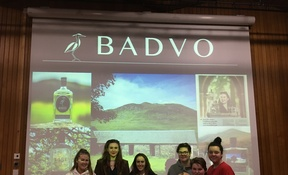Women and Business lecture - Helen Stewart, ower of Badvo Gin, with girls from Kilgraston at the school on 25.2.20 2 (4)