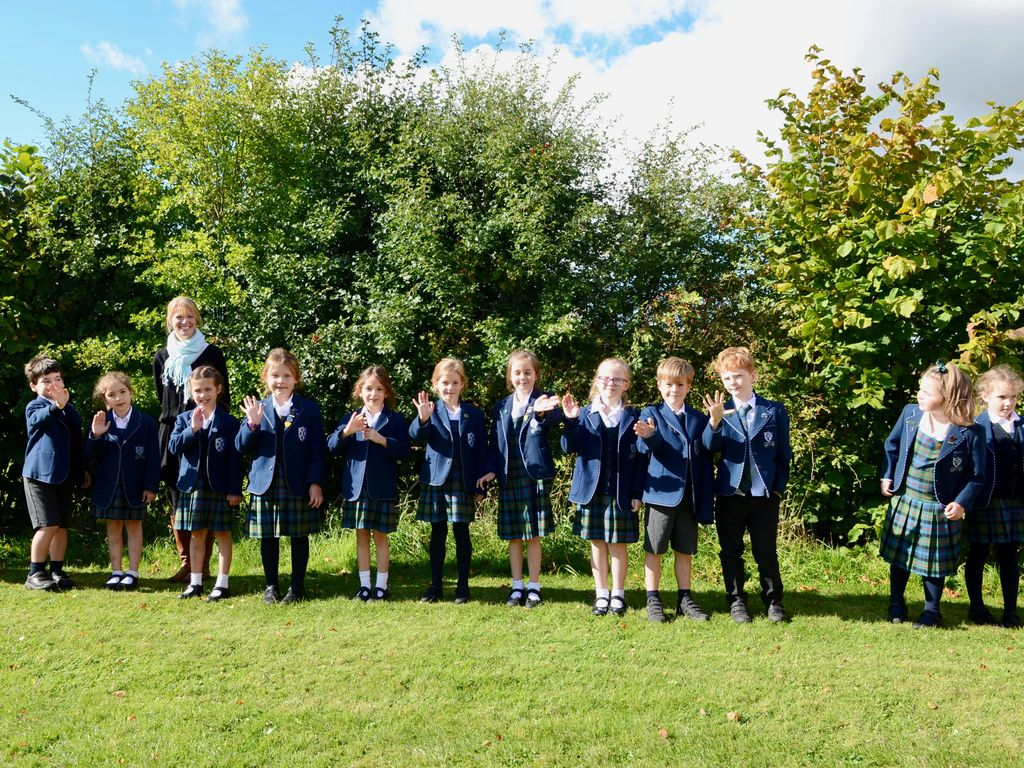 Kilgraston's Junior Years pupils plot decade of growth in self-planted hedge