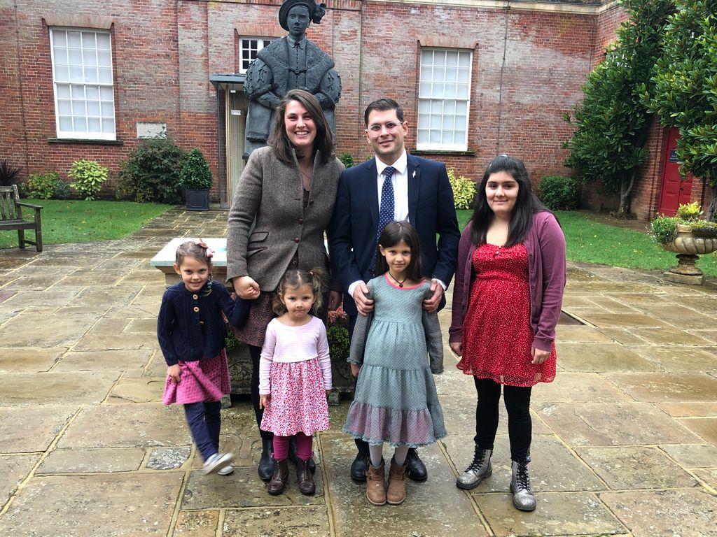 The Andrade family at King Edward's