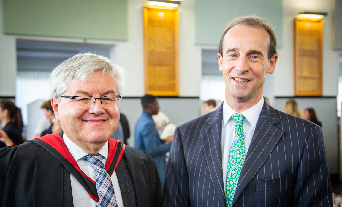 Stephen Pugh with new Deputy Head David Corran.