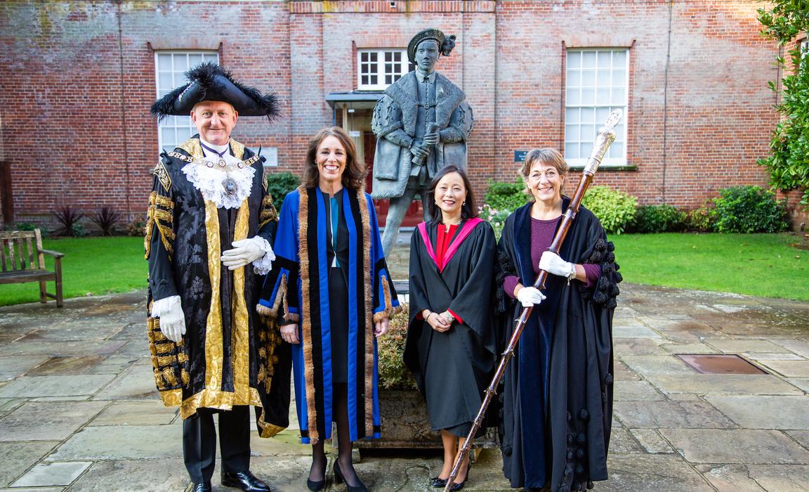 PeterEstlinknighthood - Lord Mayor, Treasurer, Head & Beadle