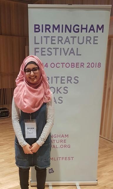 Aliyah Begum from KEHS is crowned Birmingham's Young Poet Laureate