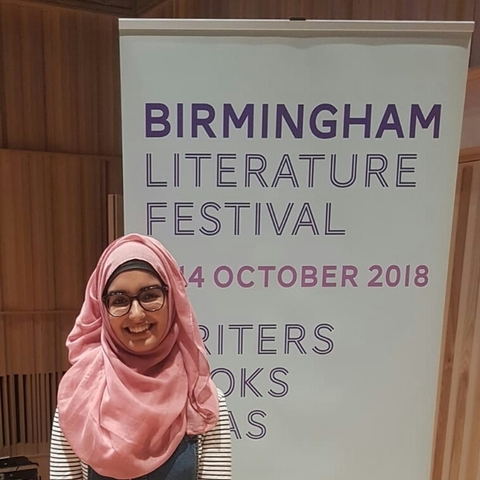 Aliyah Begum of KEHS is crowned Birmingham's Young Poet Laureate