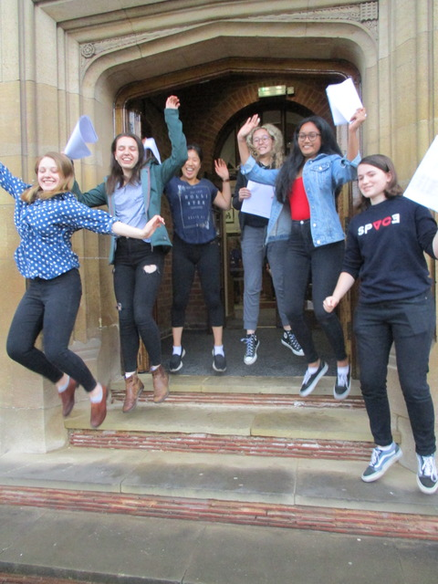 King Edward VI High School for Girls celebrates best A* results for 4 years