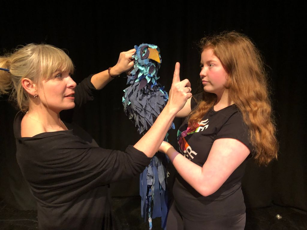 KEHS Hannah puppetry 1