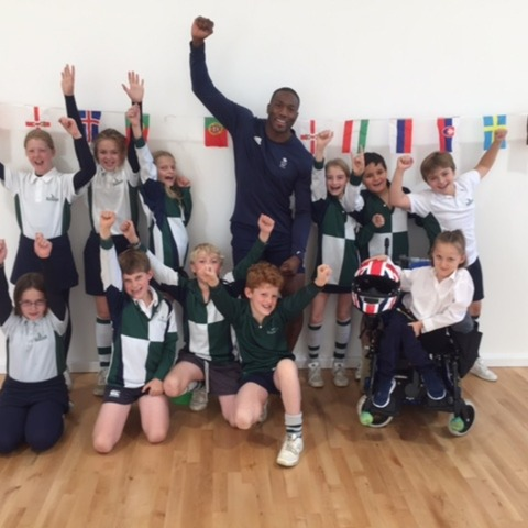 Kitebrook's Year 5 with Olympian Toby Olubi