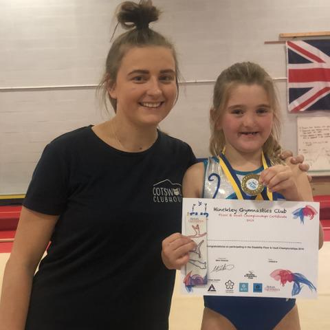 Izzie Ardron with Gymnastics Coach Emily