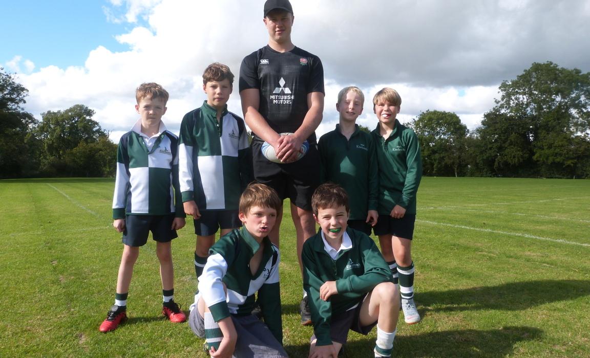 England rugby star coaches Kitebrook children