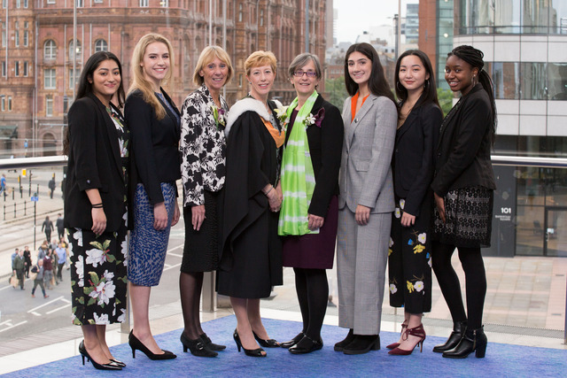 Dr Pankhurst joins Manchester  High to celebrate success