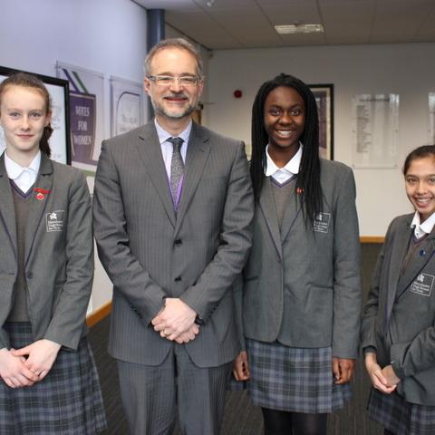 From left Lola Ellis, Mike Fleetham, Nadia Anim-Somuah and Iman Sheen