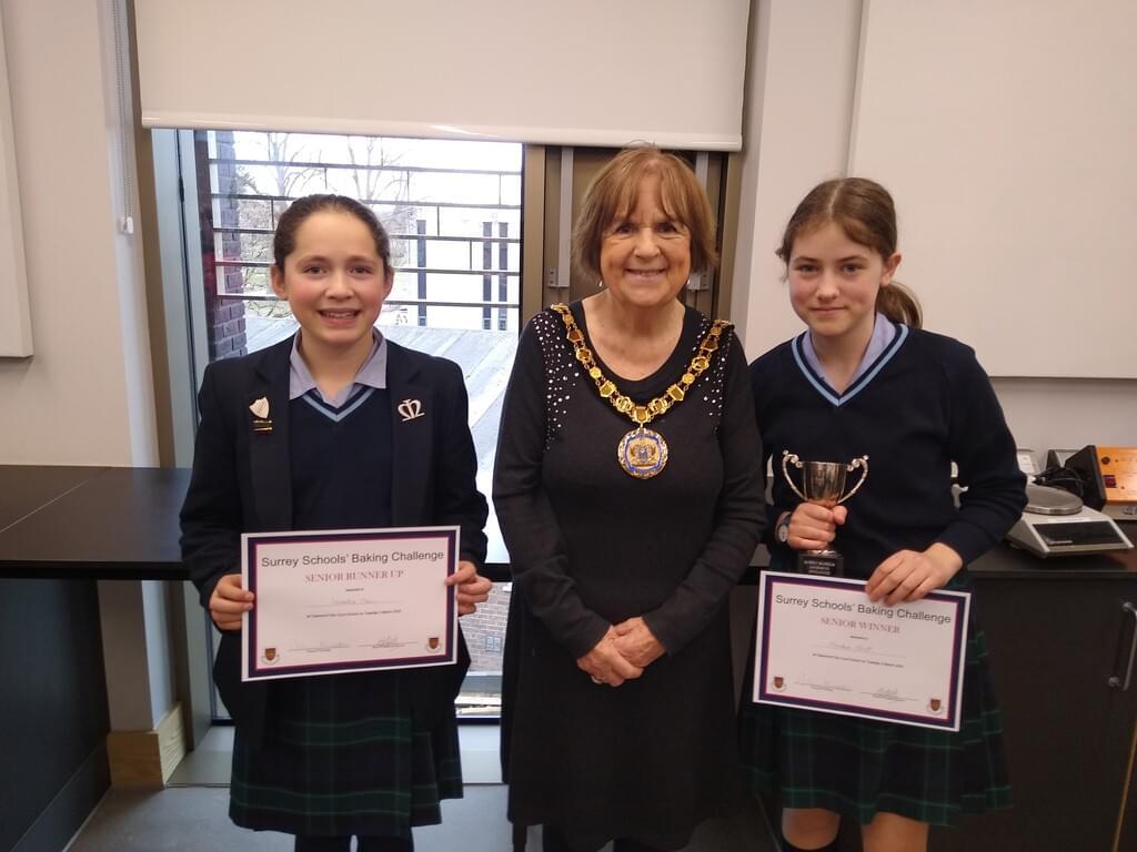 Two senior winners, Isabella Klein and Amelia Stott