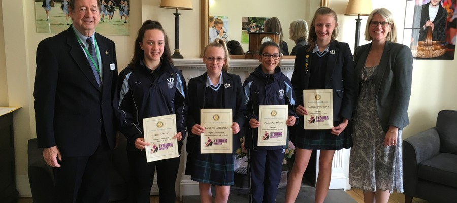 Rotary Winners; Louise D, Lauren C and others