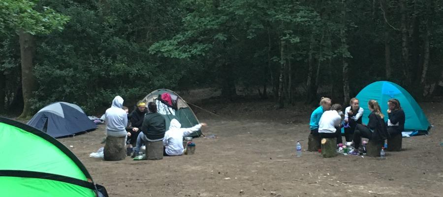 Campsite at Bentley Copse