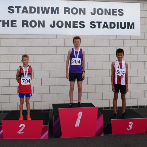Harry Dawes on top of the podium.