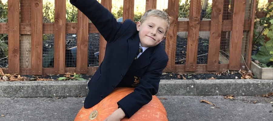 Eight-year-old Tom Butt celebrates his victory.