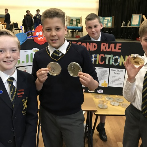 Ozz Opher, Ivo Woodward, Kip Sampson and Oliver Donoghue scooped the top prize in Monmouth Science Fair.