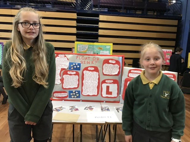 Raglan Primary School's Holly Hynes and Hannah Jones finished runners-up in Monmouth Science Fair.