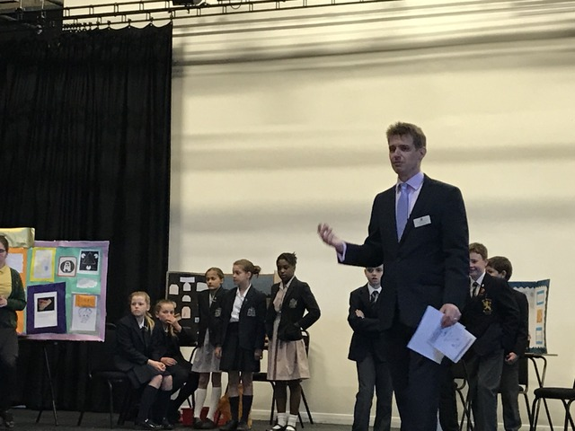Dr Sion Wall organised the science fair.