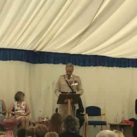 Guest speaker was Lieutenant General Tim Radford CB DSO OBE