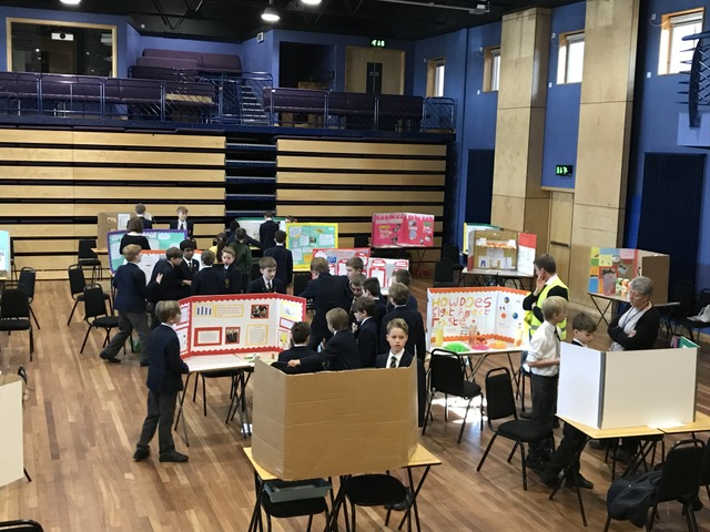 The Blake Theatre in Monmouth was filled with more than 30 science projects.