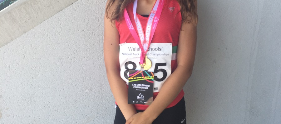 Monmouth School for Girls' athlete Antonia Dawes clinched her first Welsh Schools title in Cardiff.