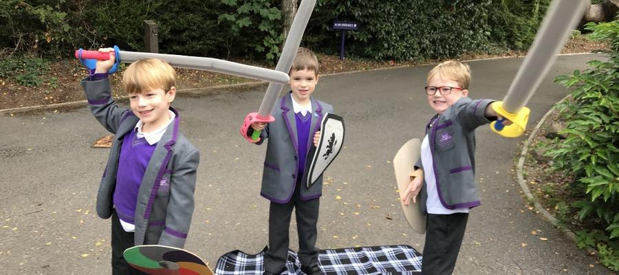 Sword fighters Alexander Bolderson, Owen Smith and Alex Burnett.