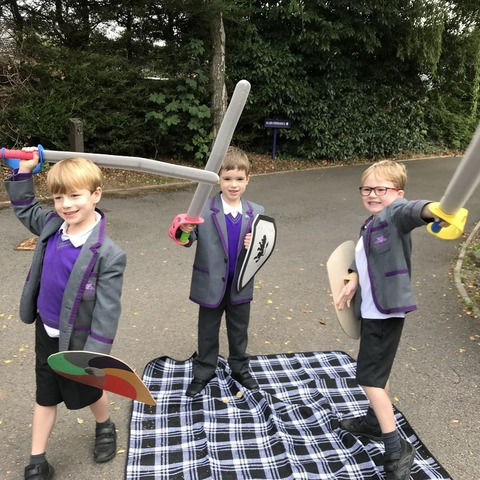 Sword fighters Alexander Bolderson, Owen Smith and Alex Burnett.