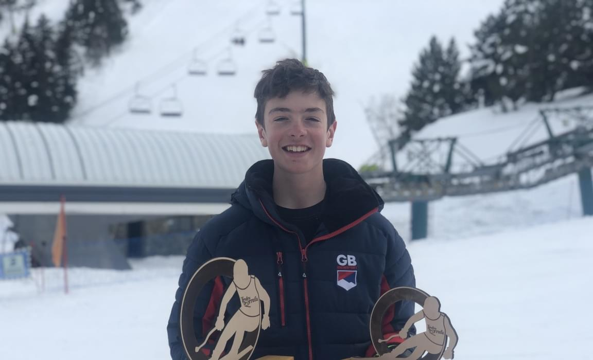 Emerson with his trophies