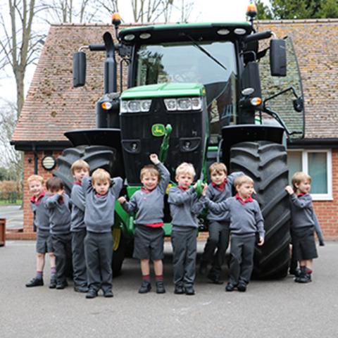 Bobcats Tractor visit