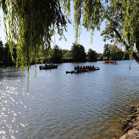Sunshine for Rivertime Boating Trust visit