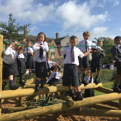 Norwich Lower School pupils enjoy some outside playtime