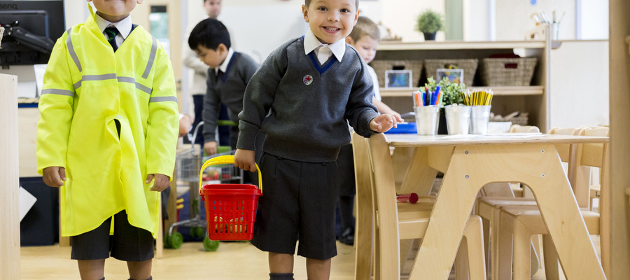 Norwich School welcome Reception aged children for the first time, September 2018