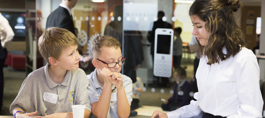 Year 5 pupils used the City College Norwich StartUp Lounge as inspiration