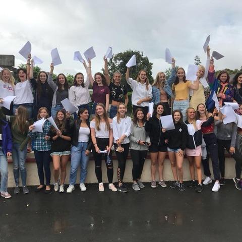 PR_ ND Girls celebrate outstanding GCSE Results 2018
