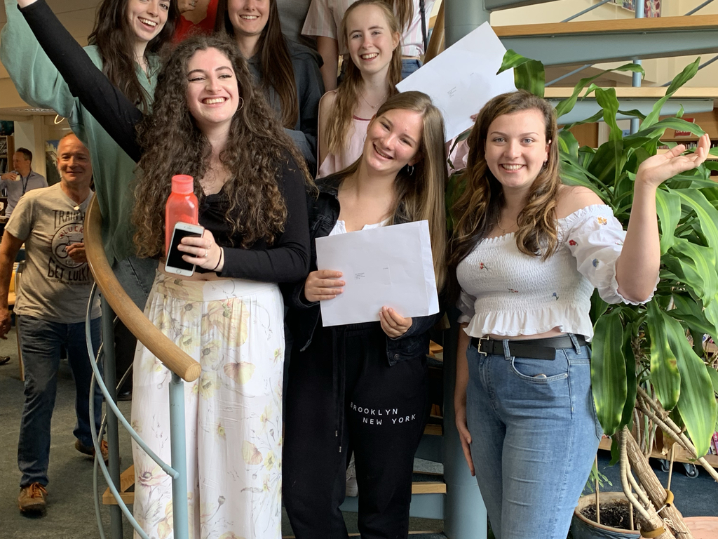 Notre Dame Girls celebrate achieving all their A Level goals