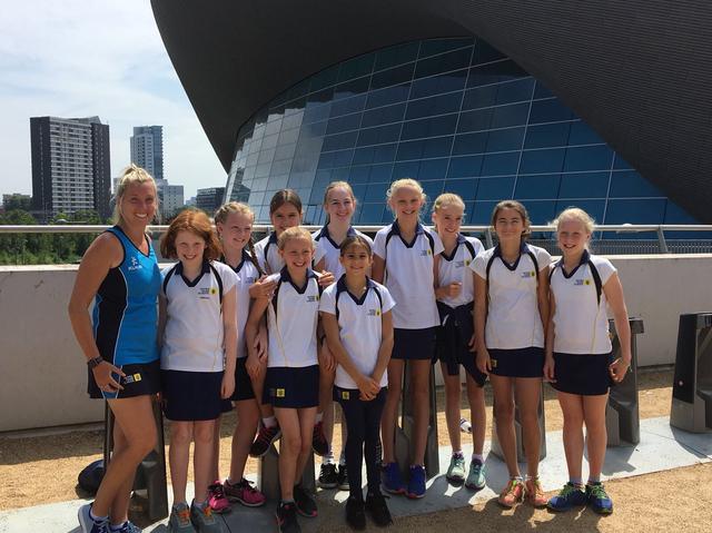 Notre Dame Prep School Swim Team at London Aquatics Centre
