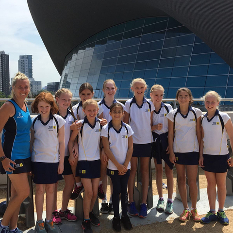 Notre Dame Prep School Swim Team at London Aquatics Centre
