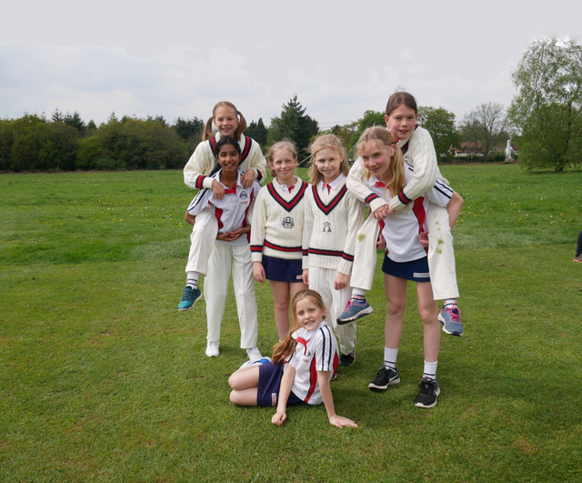 OPS girls play Cricket for the first time