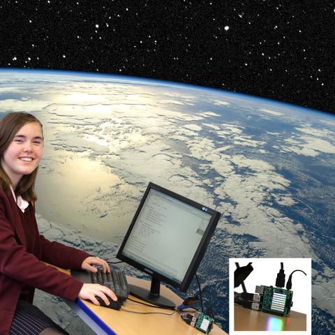 Lowena Hull coding for Tim Peake Space Station